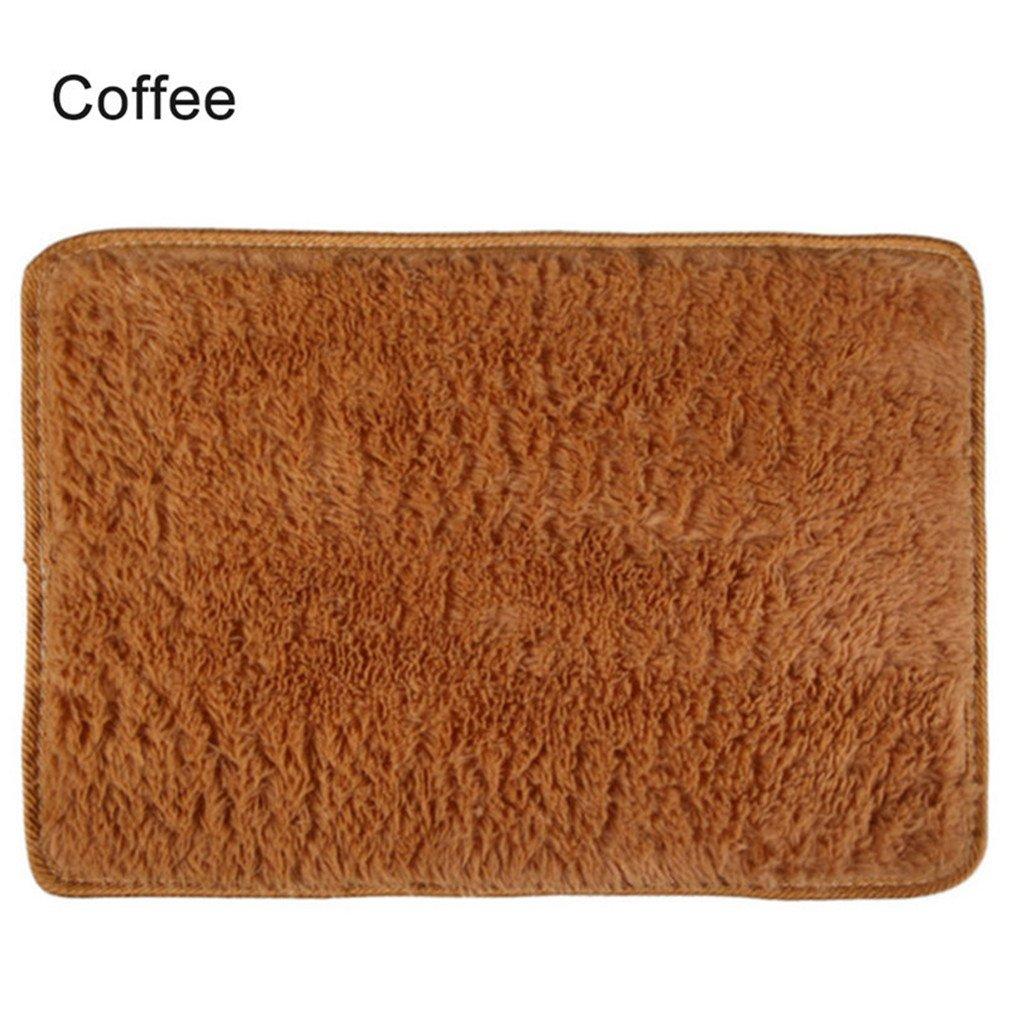 Super Soft Long Plush Silky Mat Carpet Mat Door Rugs Area Rug For Bedroom Living Room Bathroom 4 40x60cm by CHOUHOC (Image #5)