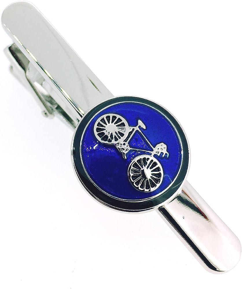 Gemelolandia Pasador de Corbata Logo Bicicleta Azul: Amazon.es ...