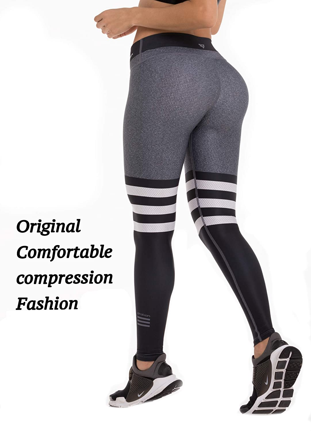 Grey Black Drakon Many Styles of Crossfit Leggings Women Colombian Yoga Pants Compression Tights