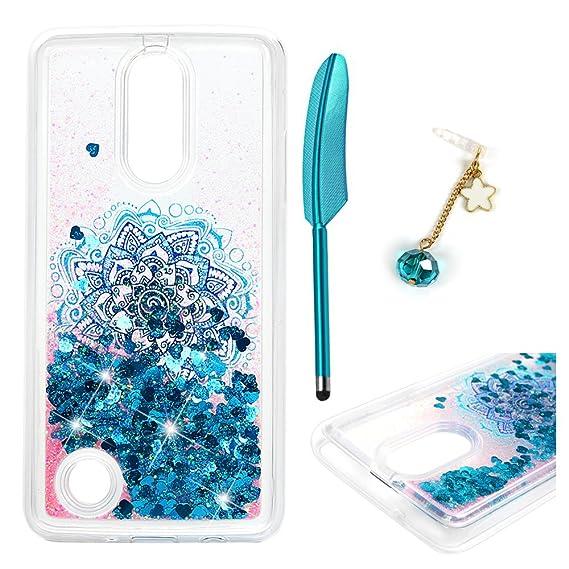 newest 7d76b ae971 LG Aristo Case, LG Phoenix 3 Case, LG Rebel 3 LTE/LG Fortune/LG Risio 2 /  LG K8 2017 / LG LV3 Case, Liquid Glitter Cover Sparkle Flowing TPU ...