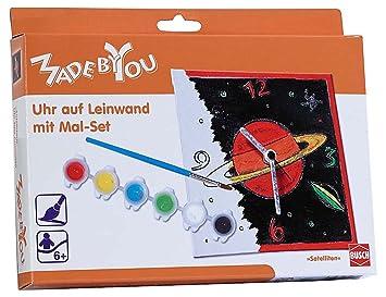 Made By You 13130 Satelliten Uhr Zum Ausmalen Amazon De Spielzeug