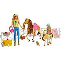 Barbie GLL70 Speelset Met Barbie En Chelsea Poppen, 2 Paarden En Meer Dan 15 Accessoires - Duurzame Verpakking