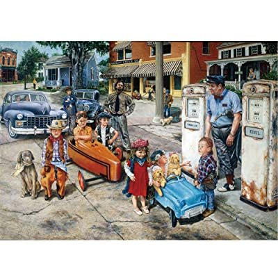Mioloe Jigsaw Puzzles 1000 Pieces Large Puzzles for Adults Adult Puzzles Difficult Romantic Town Puzzle Landscape Style Gifts DIY Mural Painting Entertainment Toy (D): Toys & Games