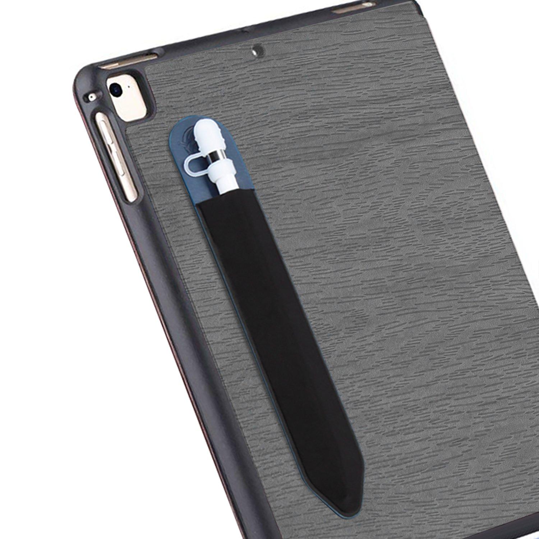 Jasontric Elastic Sticker Holder for iPad Apple Pencil,Sleeve Keeper Elastic Stylus Pocket for Apple Pencil iPad Pro (Blue)