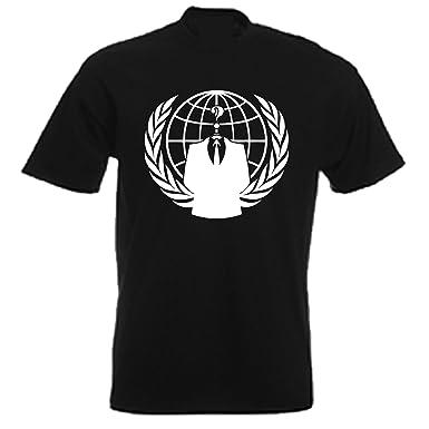 Anonymous Less Head Logo Men/'s Black T-Shirt Size S to 3XL