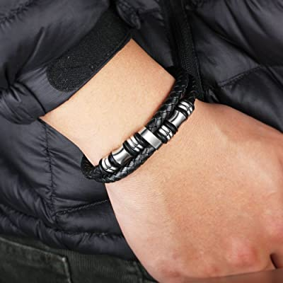 Details about  /Genuine Leather Wide-Wrap Bracelet in Ash Tan