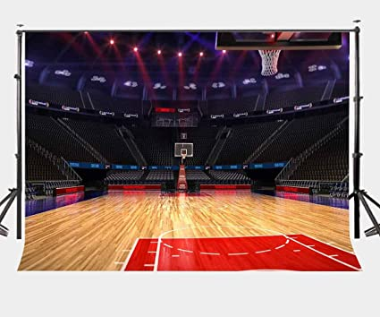 Amazon.com : LYLYCTY 7X5ft Bright Indoor Basketball Court Backdrop ...