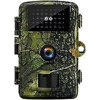BIGFOX Cámara de Caza Nocturna 12MP 1080P IP66 Impermeable, Cámara de Fototrampeo sin LED de Brillo de 940nm IR, Cámara…