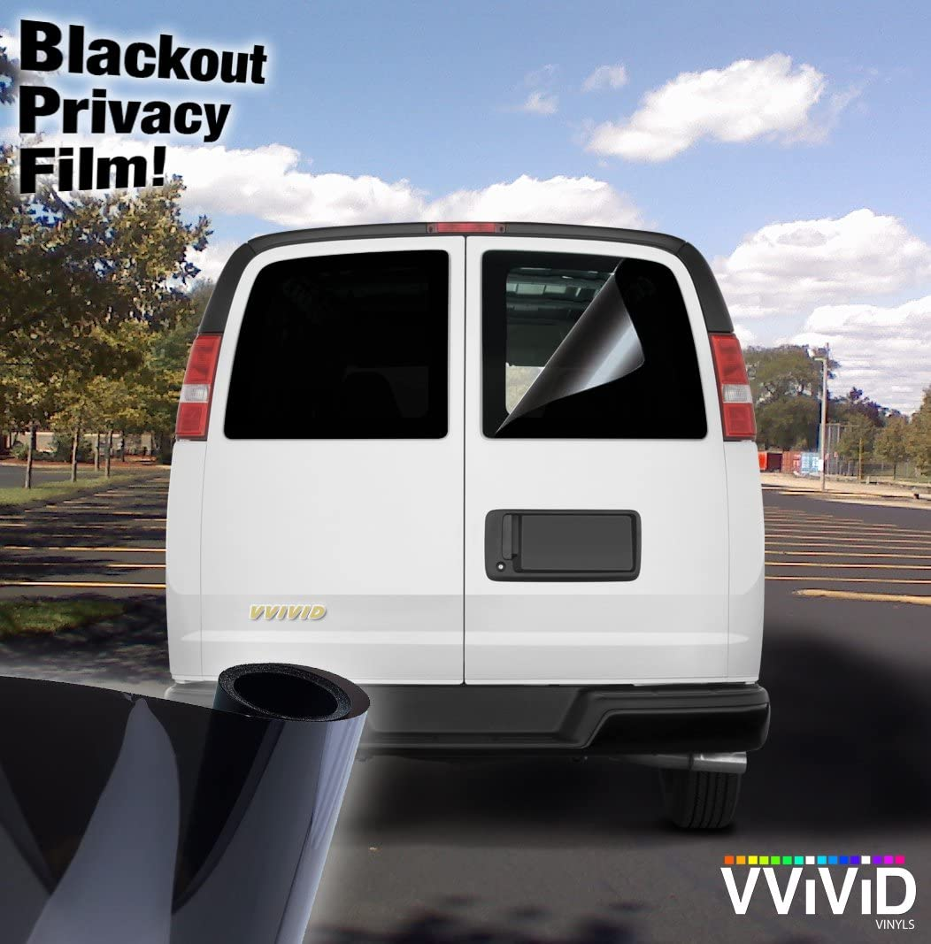 15.9 Inch x 60 Inch VViViD Static-Cling Non-Adhesive 100/% Blackout Automotive Window Vinyl Wrap Privacy Decal