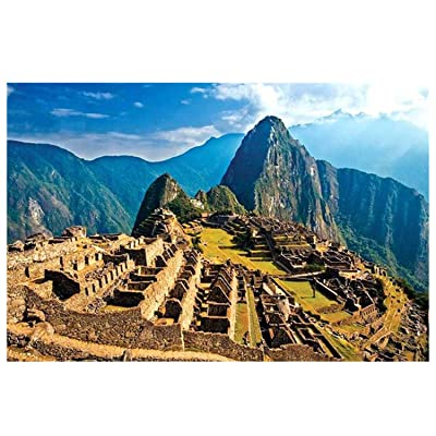 Jigsaw Puzzle 1000 Piece-Landscape Puzzles-World Famous Tourist Attractions-Large Puzzle Game Artwork for Adults Teens (29.53 x 19.69in, Multicolor-Machu Picchu): Toys & Games
