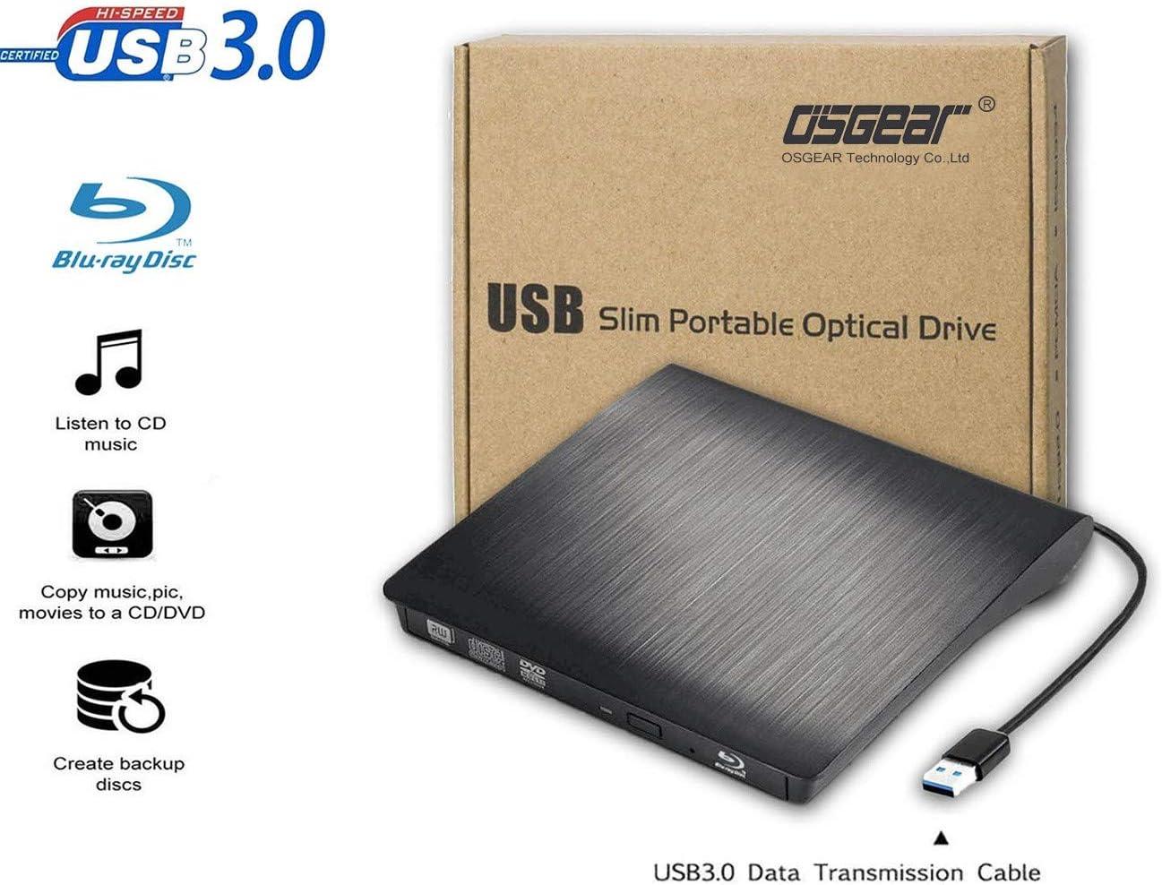 osst USB3.0 Slim portátil Externo BLU-Ray BD Unidad Combo Lector ...