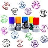4PCS Custom Teacher Name Rubber Stamp Pre Self Inking School Student Homework Stamper