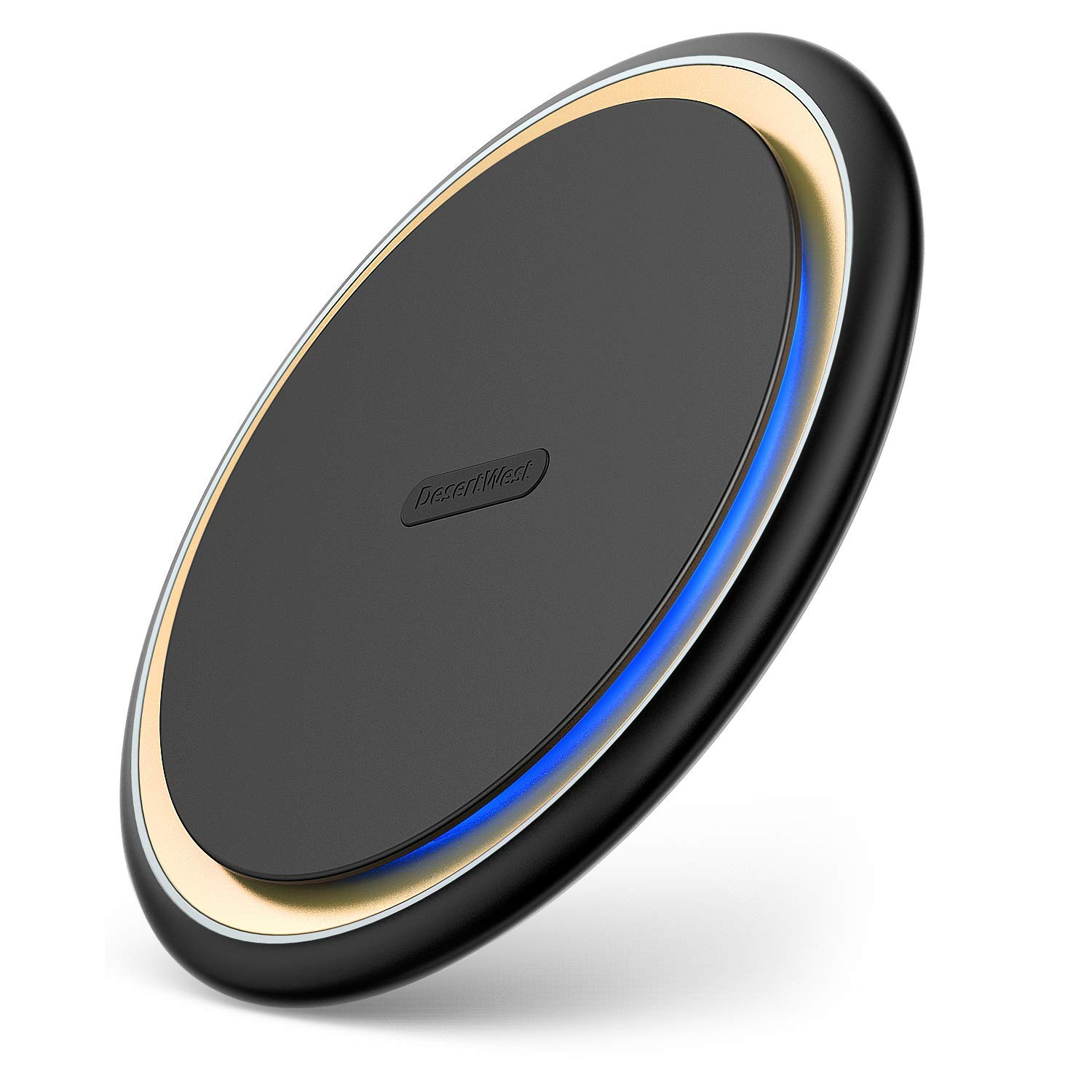 DesertWest Fast Wireless Charger Exclusive for iPhone - 7.5W Qi Wireless Charger Compatible with iPhone Xs Max, XS, XR, X, 8, 8+, Samsung Galaxy S10, S10+, S10e, S9, S9+, S8, S8+ and more