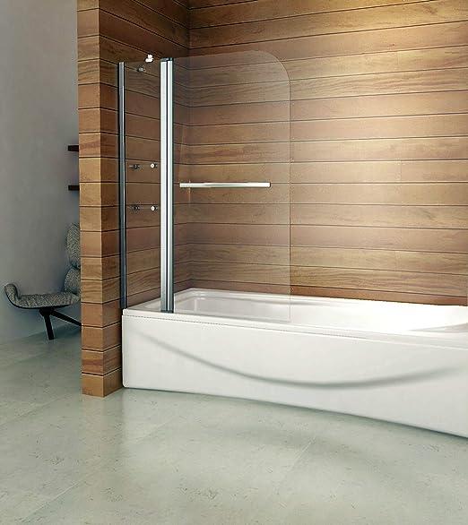 Girar 180 ° – Mampara para ducha 120 x 140 cm B2S de H12: Amazon ...