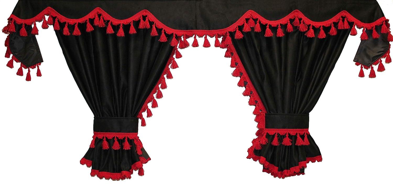 Adomo LKW Gardinen passend zu FH4 und FH in schwarz (rot) Kolan