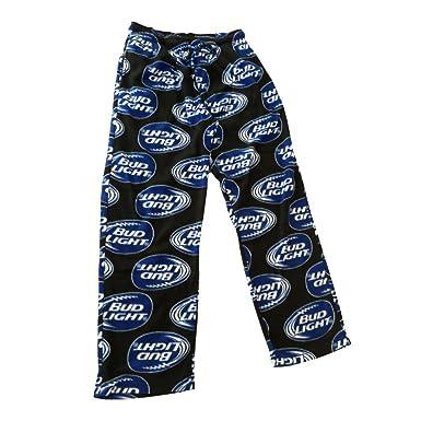 4fff66c5716 Bud Light Mens Fleece Lounge Sleep Pajama PJ Pants (Medium, Blue) at ...