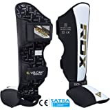 RDX Shin Guard MMA Leather Instep Leg Pads Protective Muay Thai Boxing Kickboxing Training (CE Certified Approved by SATRA)