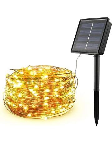Diswoe Cadena Luces Solares Guirnalda Luces Solares 200 LED/8 Modos/20M IP65 Impermeable