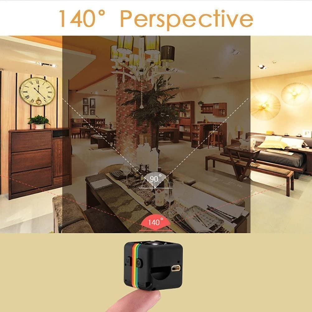 Crazepony-UK Mini Camera Spy SQ11 Camcorder 3.6mm Night Vision FOV140 1080P HD Sports Micro Camera DVR Video Recorder