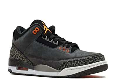 Mens Air Jordan 3 Retro Fear Pack Suede Basketball Shoes