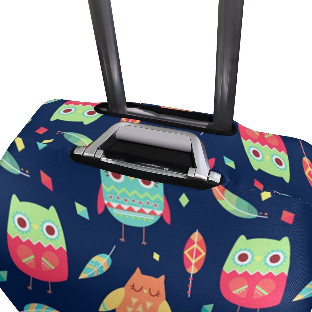 Elastic Travel Luggage Cover Cartoon Owls Suitcase Protector for 18-20 Inch Luggage
