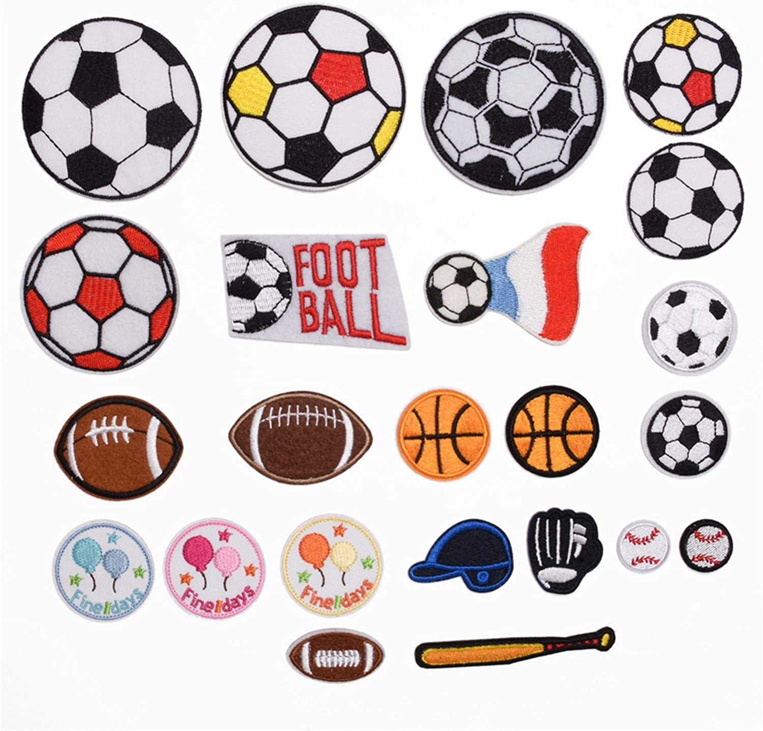 FOOTBALL BALL SPORT DECORATE JACKET BAG Embroidered Iron on Patch Free Postage