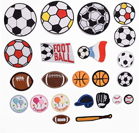 Football Patch Iron On or Sew On Embroidered Applique for clothing  kids  baby