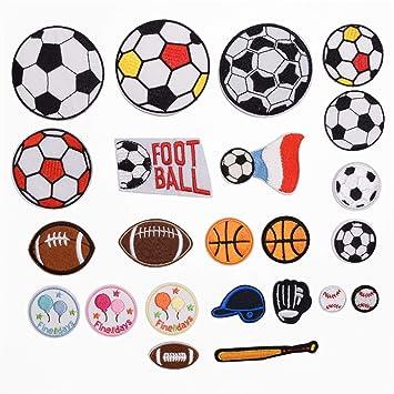 23 piezas de parches de tela para juegos de béisbol, fútbol ...