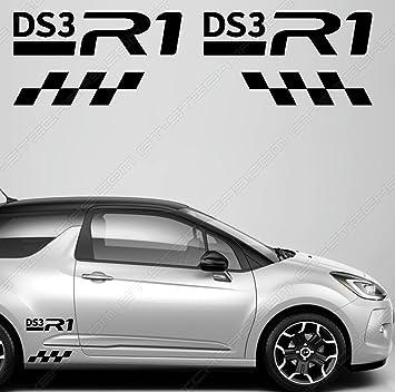Kit Citroen DS3 R1 GTD Matte Black Stickers Deco Tuning' + bonus