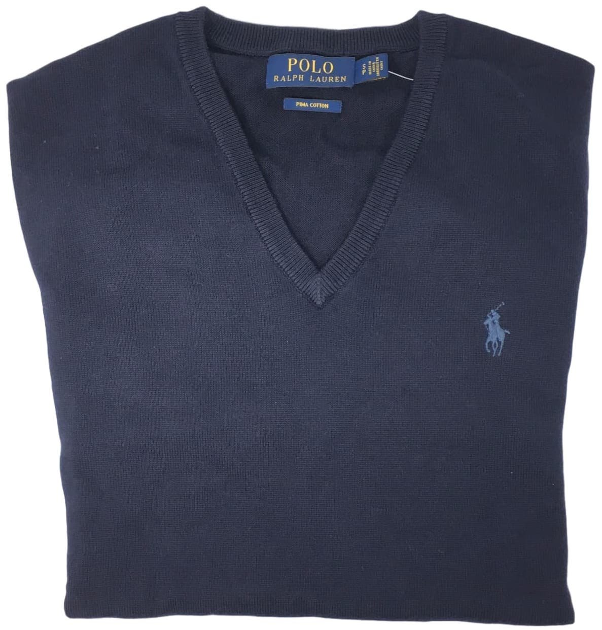 Polo Ralph Lauren Mens Pima Cotton V-Neck Sweater (Navybluepny , S) by Ralph Lauren