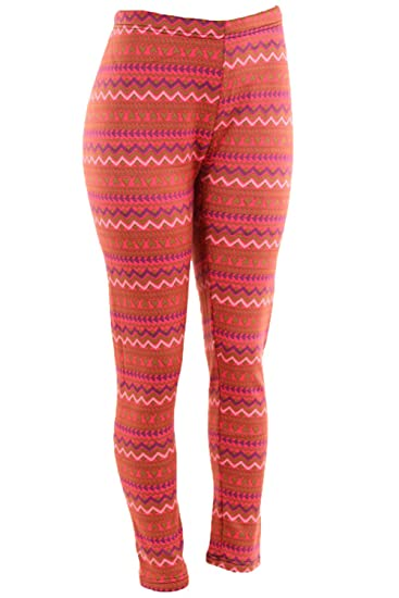 e3b4721a256a7 Docele Women s Plus Size Faux Fur Lined Printed Leggings-Zig Zag at Amazon  Women s Clothing store