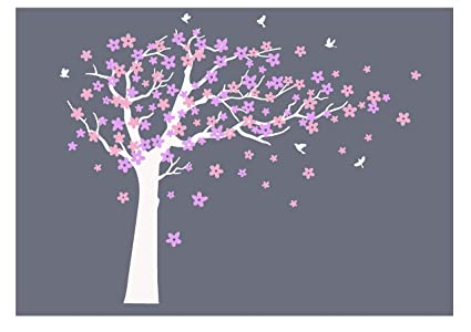 Amazon Luckkyy Large Blooming White And Pink Flowers Tree With
