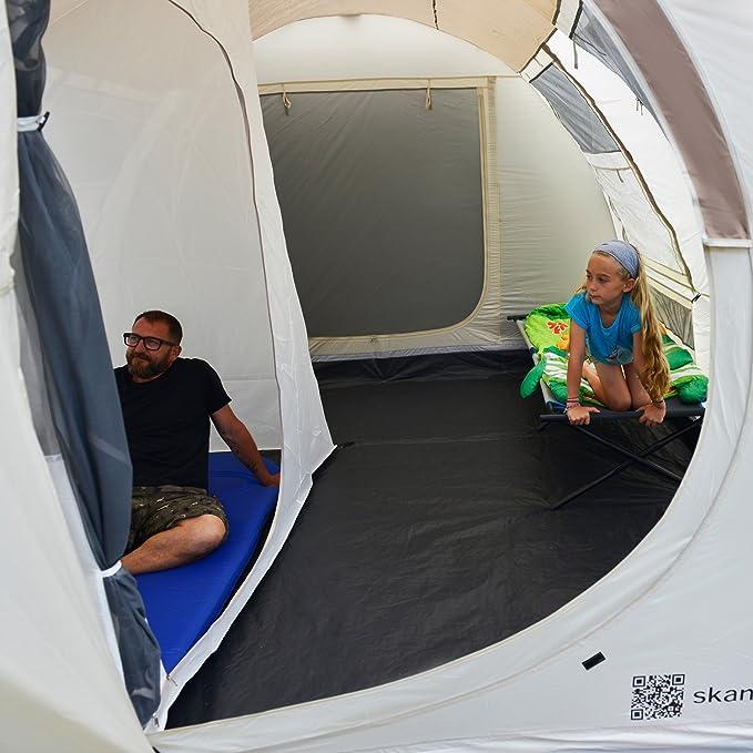 skandika Esbjerg Travel - 2 Personas - Tienda de campaña para Furgonetas/Vans - Suelo Cosido en Forma de bañera - beig