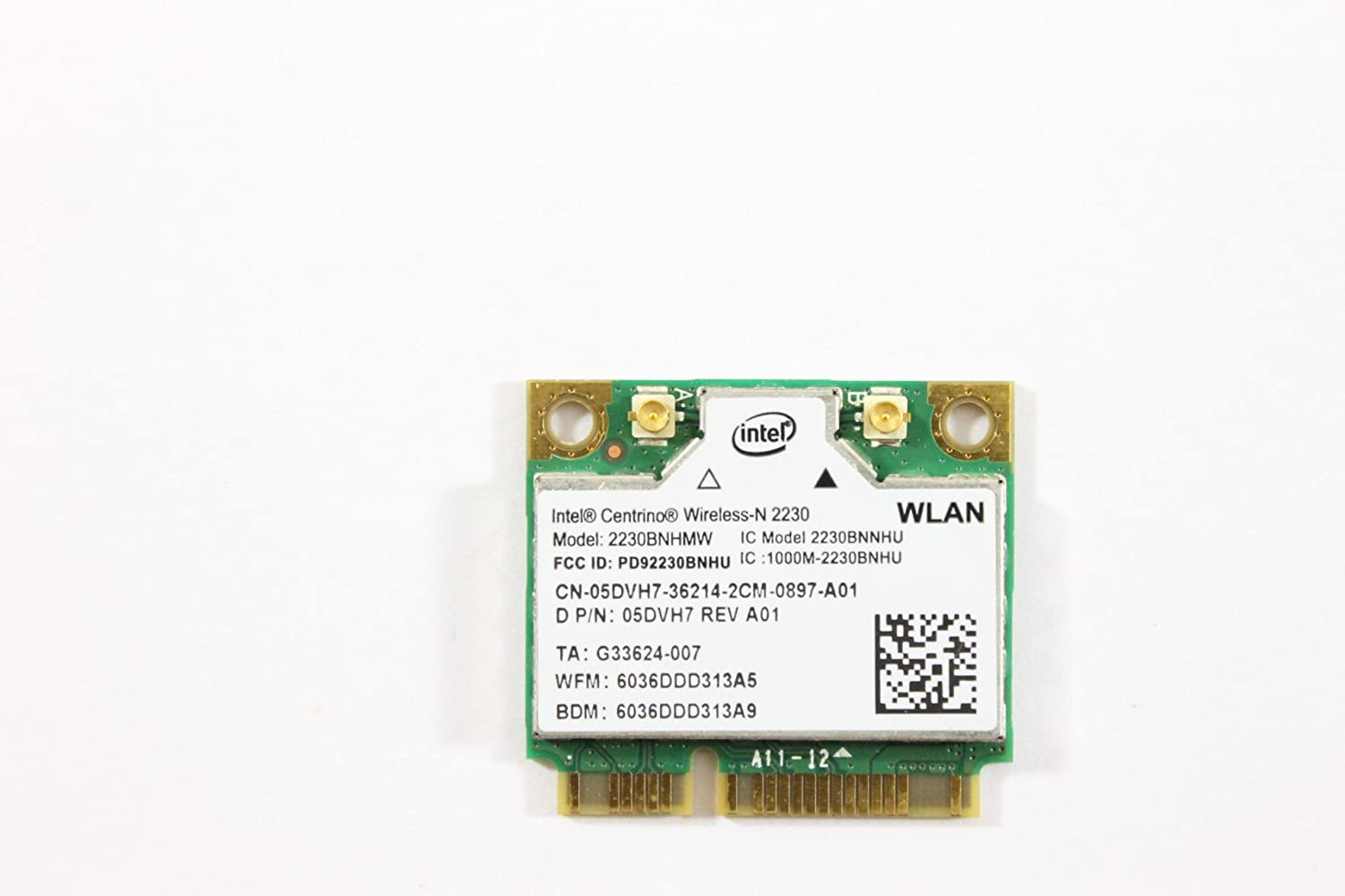Dell Mini PCI Express Half Height 5DVH7 WLAN WiFi 802.11n Wireless Card Inspiron 7720
