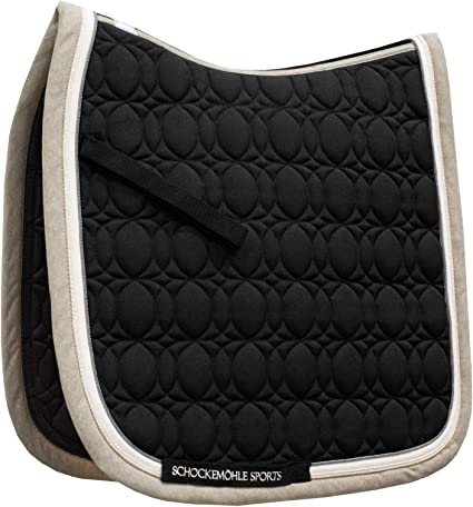 New Fully Padded Half Saddle Pad in Black and Brown