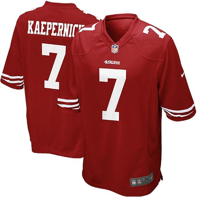 bddc8dcfb Amazon.com   Nike Men s Colin Kaepernick San Francisco 49ers Extended Size Game  Jersey   Sports Fan Jerseys   Sports   Outdoors