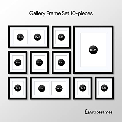 Amazon.com - ArtToFrames Picture Frame 10 Piece Wall Set, (7) 10x8 ...