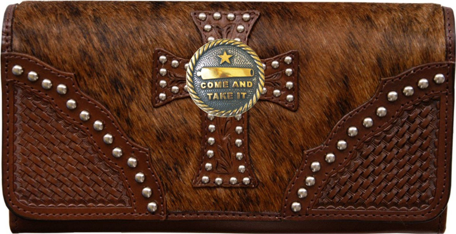 Custom Come and Take It Natural Hair Christian Clutch Wallet with removable checkbook