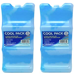 Long Lasting Ice Pack - Great for Can Coolers and Breastmilk Bottles Storage | 6-Can (2 Pack)