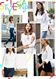 HOTOUCH Womens long Sleeve Cotton Button Down
