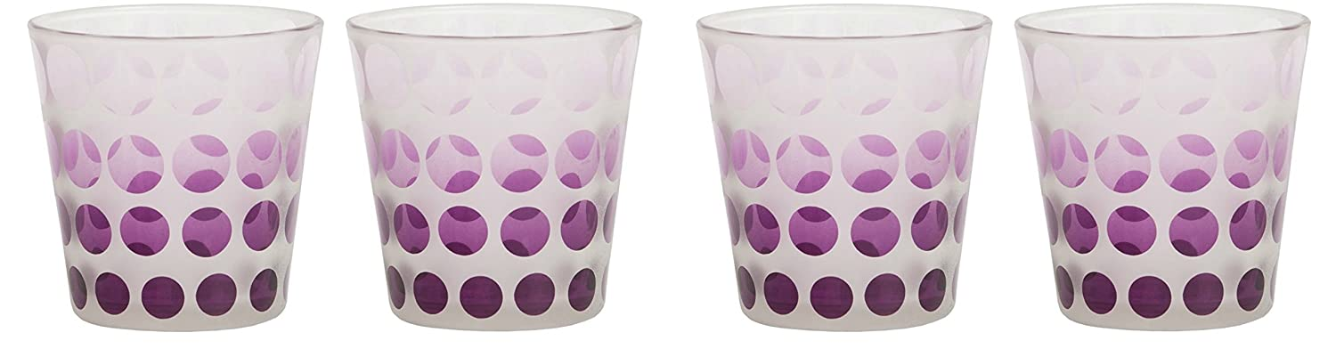 Yankee Candle Pure Essence Circles Votive Holders FOUR PACK Plus TWELVE Samplers Small Modern Candle Containers for Fireplaces /& Tables Decorative Frosted Coloured Glass Indoor//Outdoor Use Purple