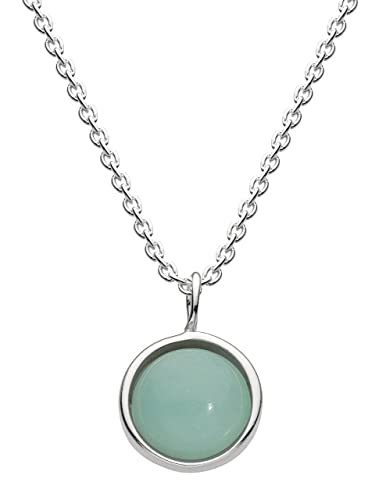 Dew Sterling Silver Round Necklace bSSNI
