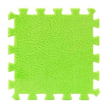 DOLDOA 6 Stck EVA Eco Puzzle Teppich Mosaik Fliesen Wohnzimmer Kissen Nachttisch Grn