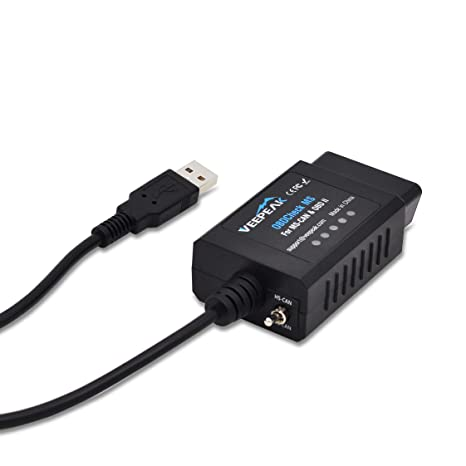 Veepeak USB OBD2 Scanner Adapter for FORScan with MS-CAN HS-CAN Switch,  Professional Diagnostic Programming Service Tool for Ford Mazda Lincoln on