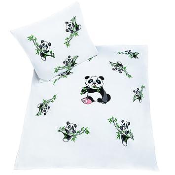 Baby Bettwäsche Set Panda 80 X 80 Cm 2 Teilige Kinderbettwäsche