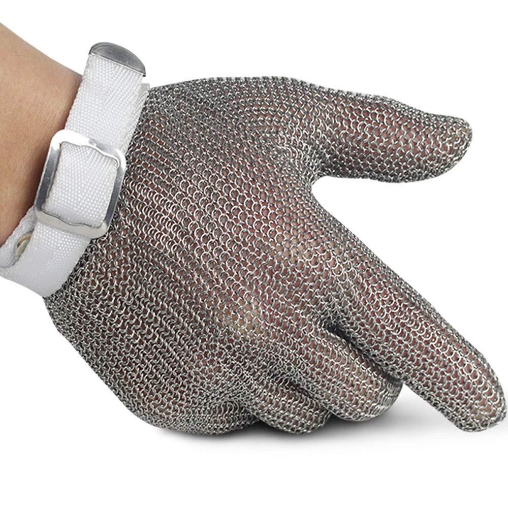 304ステンレス鋼ワイヤー手袋虐殺金属切削保護戦術5本指鋼リングアンチカッティング手袋アンチカッティング XXL  B07R2KPFV9