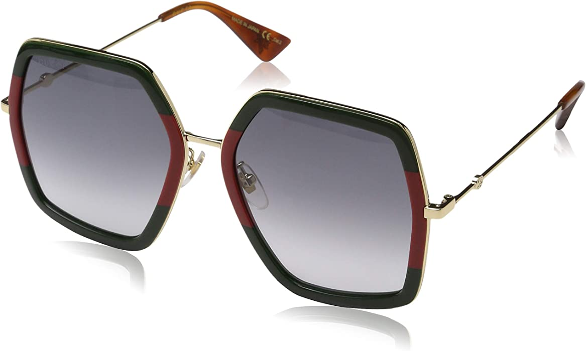 95133ea94e Amazon.com  Gucci GG 0106 S- GG0106S Sunglasses 56mm  Clothing