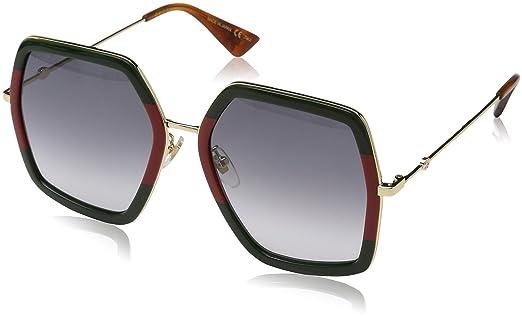 Amazon.com: Gucci GG 0106 S- GG0106S - Gafas de sol (2.205 ...