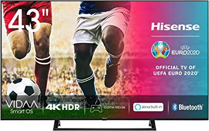 Hisense UHD TV 2020 43AE7200F - Smart TV Resolución 4K con Alexa integrada, Precision Colour, escalado UHD con IA, Ultra Dimming, audio DTS Virtual-X, Vidaa U 4.0: Amazon.es: Electrónica