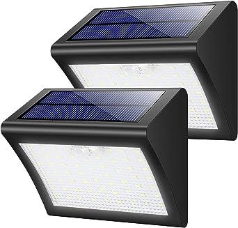 Lampe Solaire Extérieur,Yacikos 60 LED Lumière Solaire Sécurité étanche  avec Détecteur de Mouvement sans Fil éclairage Solaire,3 Modes Luminaire  pour ...